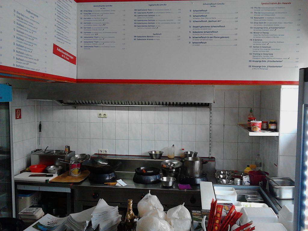 Im Asia Restaurant Kappeln kann man die Zubereitung der Speisen verfolgen